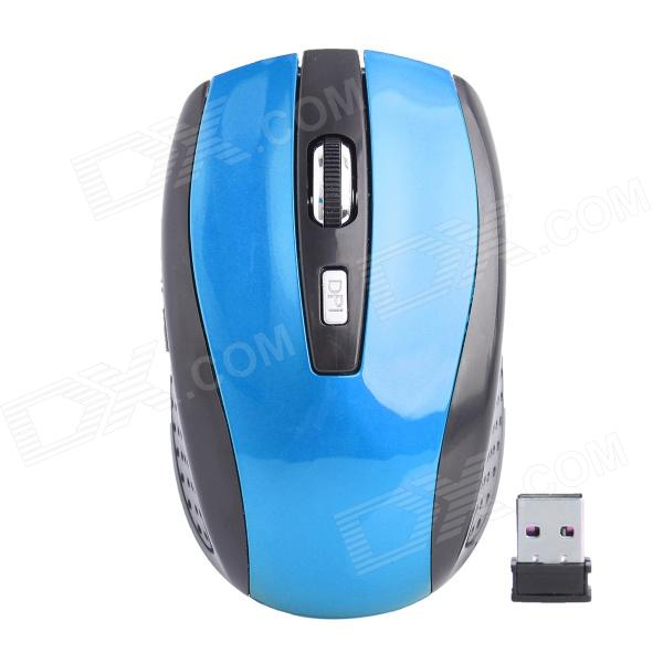 G-192 2.4G Wireless High-Frequency 800/1200/1600dpi Optical Mouse - Blue + Black (2 x AAA) zuntuo zt 302 heise 2 4ghz 800 1200 1600 2000dpi wireless optical mouse black blue