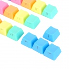Keycool Replacement Keyboard 37-Key Caps Set for Mechanical Keyboard - Rainbow Color