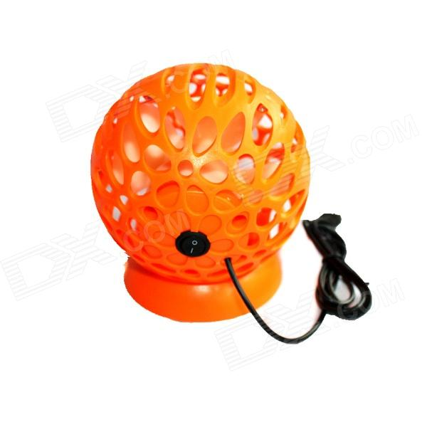 Ball Style USB Powered Mini Desktop 4-Blade Fan - Orange