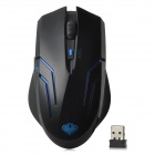 QISAN USB 2.0 2.4GHz Wireless 800 / 1000 / 1200 ppp optique LED Gaming Mouse - noir (1 x AA)