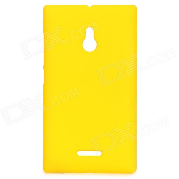 Matte Protective Plastic Back Case for Nokia XL - Yellow protective plastic case for motorola razr xt910 yellow
