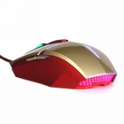 sunsonny T-M30 USB kablet 6 knapp LED gaming mus - golden + rød