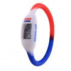 "0.67"" LCD 2014 World Cup Flag of Netherlands Design Sports Silicone Bracelet Digital Wrist Watch"