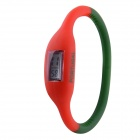 "0.677"" LCD 2014 World Cup Portuguese Flag Design Sports Silicone Bracelet Digital Wrist Watch"