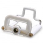 Small Size Plastic Mobile Phone Clip for IPHONE / Samsung / HTC + More - White (5.5~8.5cm)