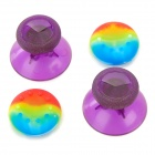 Replacement 3d joystick caps + anti-slip covers set for xbox one - translucent purple
