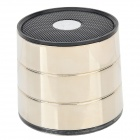 EWA A1022 Tragbare Bluetooth v2.1 Reden Speaker w / TF / Mikrofon - Schwarz + Light Golden