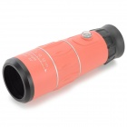 Exterior 52mm 16X telescopio monocular w / Brújula - Orange + Negro