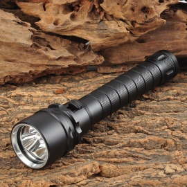 1500lm 3-LED Cold White Dive Flashlight - Black (3.7~7.4V / 2 x 18650)