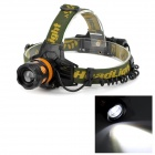 BL-6813 LED 400lm 3-Mode White Zooming Headlamp - Black + Golden (1 x 18650 / 3 x AAA)
