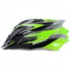 Boodun BD-1131 Protective Outdoor PC + EPS Helmet w/ Rear Warning Light for Cycling - Black + Green