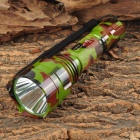 C8 Cree XR-E Q5 300lm 2,100mA 5-Mode LED Neutral White Flashlight - Camouflage (1 x 18650)