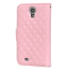 Retro Style Flip Open PU + Plastic Case w/ Stand / Card Slots for Samsung Galaxy S4 i9500 - Pink
