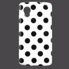 Stylish Polka Dot Pattern Protective TPU Back Case for Google Nexus 5 - White + Black