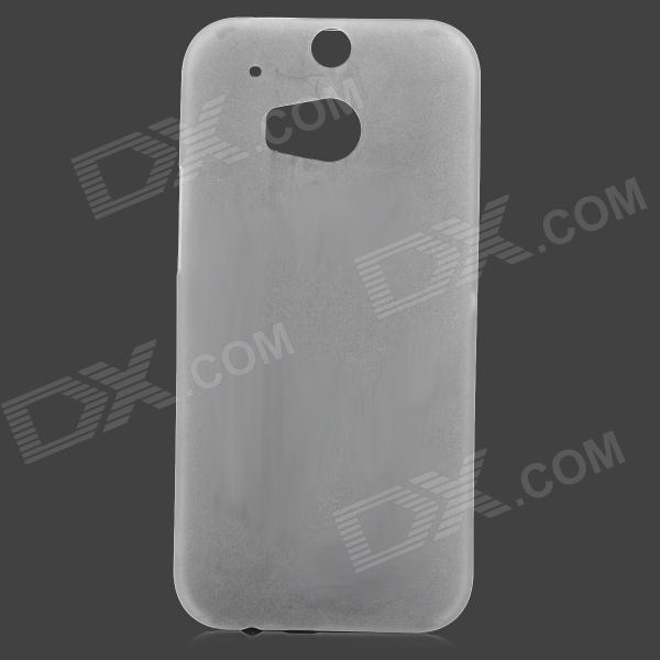 S-What Matte 0.3mm Plastic Back Case for HTC ONE M8 - Translucent White