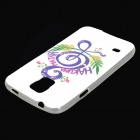Music Note Pattern TPU Back Case for Samsung Galaxy S5 - White + Green + Multi-Colored