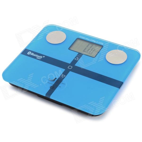 FitCute Bluetooth V4.0 Smart Body Analyzer / Scale - Light Blue + Silver (3 x AAA)