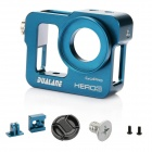 DUALANE Aluminum Alloy Protective Case Shell Housing Cover for GoPro Hero 3 - Blue