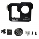 DUALANE Aluminum Alloy Protective Case Shell Housing Cover for GoPro Hero 3 - Black