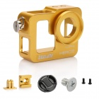 DUALANE Aluminum Alloy Protective Case Shell Housing Cover for GoPro Hero 3 - Golden