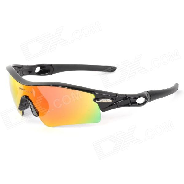OPOLLY OP105 Cycling PC Polarized Sunglasses w/ Replacement Lens - Red REVO + Black + Deep Grey водолазки и лонгсливы котмаркот джемпер геометрия 15073