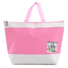 Creeper Oxford + Aluminum Film piquenique isolamento Bag - Rosa + Branco