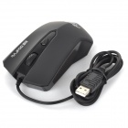 RAJFOO USB 2.0 Wired 1000 / 1600dpi Gaming Optical Mouse - Black