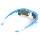 OPOLLY OP105 Cycling PC Polarized Sunglasses w/ Replacement Lens - Red REVO + Blue