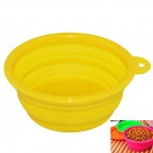 EasyCat Portable Silicone Pet Dog Cat food Water Foldable bowl - Yellow