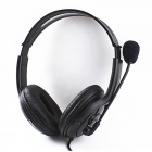 IDOMAX USB Wired Stereo Gaming Headphone w/ Soft Microphone - Black (190cm-Cable)