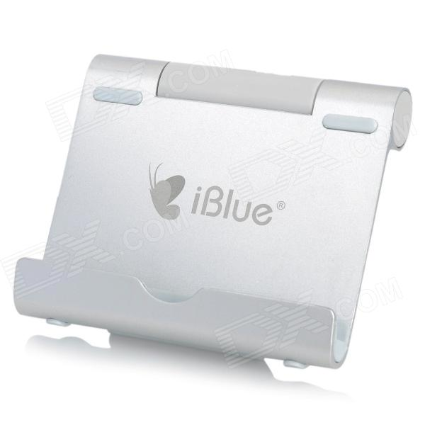 iblue Universal Rotary Desktop Aluminum Alloy Car Cellphone / Tablet Holder Stand - Silver