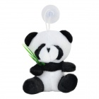 Panda Shaped Plush PP Cotton Toy - White + Black