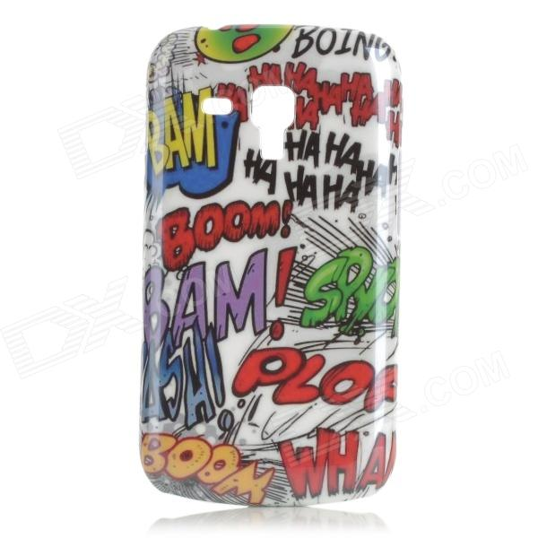 Graffiti Pattern Protective ABS Back Case for Samsung Galaxy Trend Duos S7562 - White + Multicolored