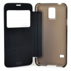 Flip-Open PC Case w/ CID Window for Samsung Galaxy S5 - Black