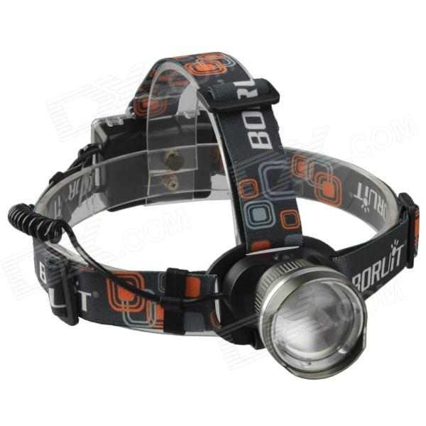 SingFire SF-638 LED 750lm 3-Mode White Zooming Headlamp - Grey (3 x AA) 35lm 4 mode white light led headlamp black grey 3 x aaa