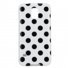 Protective Stylish Polka Dot Silicone Back Case Cover for Samsung Galaxy S5 - White + Black