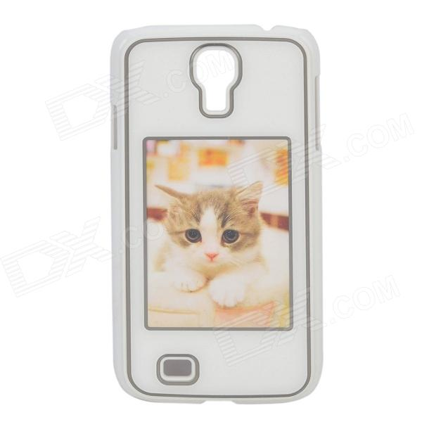 Protective Personalized Picture Frame Plastic Back Case for Samsung Galaxy S4 - White