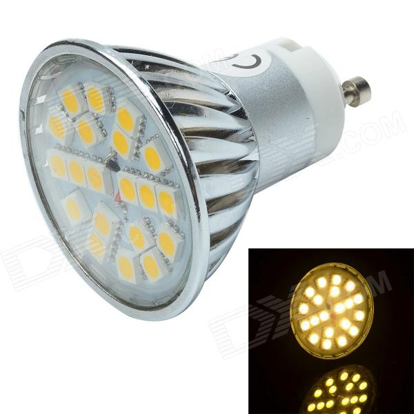 GU10 3W 220lm 3500K 20 x SMD 5050 LED Warm White Light Lamp - Silver + White (12V)