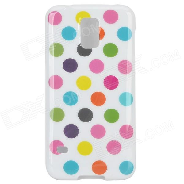 Protective Polka Dot Silicone Back Case for Samsung Galaxy S5 - White + Dark Pink + Multi-Colored handpainted cactus and polka dot printed pillow case