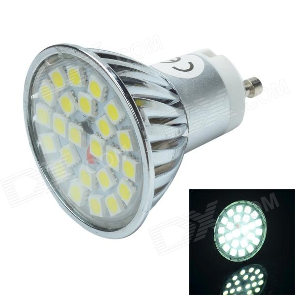 GU10 3W 240lm 6000K 24 x SMD 5050 LED White Light Lamp Bulb - Silver + Yellow (12V) feng ling sb5512 ultrathin young model double eyelid tapes white yellow 240 pieces pack