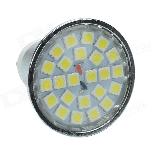 gu10 3w 240lm 6000k 24 x smd 5050 led white light lamp bulb silver yellow 12v free. Black Bedroom Furniture Sets. Home Design Ideas