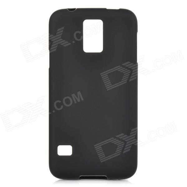 Simple Plain PVC + TPU Back Case for Samsung Galaxy S5 - Black replacement back camera circle lens for samsung galaxy s5 g900 black