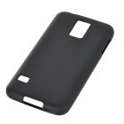 Simple Plain PVC + TPU Back Case for Samsung Galaxy S5 - Black
