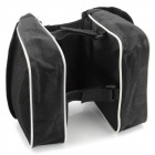 JSZ Handy Durable 3-in-1 Top Tube Bag for Bicycle - Black + White