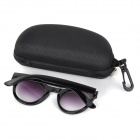 UV400 Protection Tawny Resin Lens Sunglasses - Black