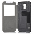 ROCK Protective Flip-open PU + PC Case for Samsung Galaxy S5 - Black + Grey