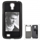 Protective Personalized Picture Frame Plastic Back Case for Samsung Galaxy S4 - Black