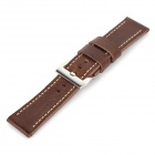 Chimaera OP-36-BK05 Replacement Leather Wristwatch Strap Watchband w/ Buckle - Reddish Brown