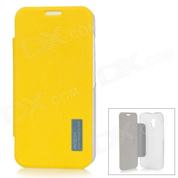 ROCK 651717 Protective PC + PU Case for Moto X Phone - Lemon Yellow view from castle rock