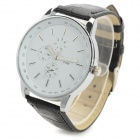 Zhongyi 628 Men's Analog Quartz Wristwatch - Black + White (1*626)